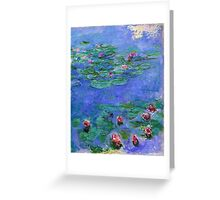 Claude Monet - Water Lilies Red 1919 Greeting Card