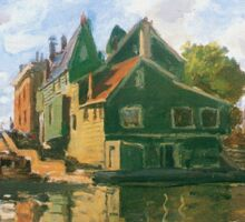 Claude Monet - Zaandam Canal Sticker