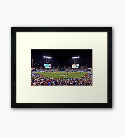 at the game Framed Print