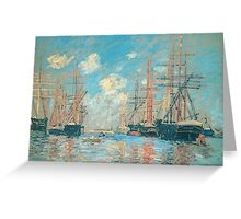Claude Monet - The Sea Port In Amsterdam Greeting Card