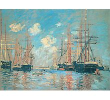 Claude Monet - The Sea Port In Amsterdam Photographic Print