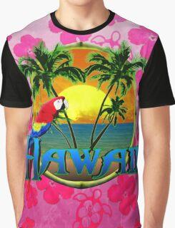 Hawaii Sunset Pink Honu Graphic T-Shirt