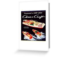 Chris Craft Vintage Boats Greeting Card
