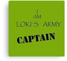 Loki´s captain Canvas Print
