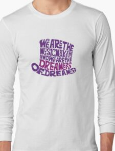 Willy Wonka Hat Dreams typography Long Sleeve T-Shirt