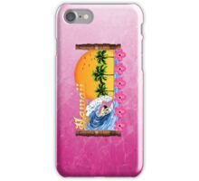 Pink Hawaiian Surfing iPhone Case/Skin