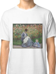 Claude Monet - Camille Monet And A Child In The Garden In Argenteuil 1875  Classic T-Shirt
