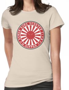Oaska Suns Scooter `Club Womens Fitted T-Shirt