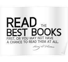 read the best books first - thoreau Poster