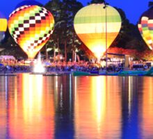 hot air balloon glow Sticker