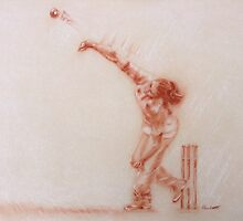 Girls cricket by Paulette Farrell