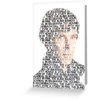 Sherlock From Words Greeting Card