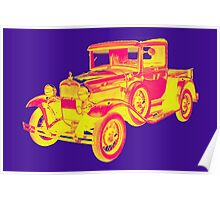 1930 Model A Ford Pickup Truck Pop Art Poster