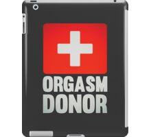 Orgasm Donor Cool Sexy Funny Vintage Icon iPad Case/Skin