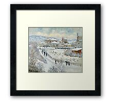 Claude Monet - View Of Argenteuil In The Snow Framed Print