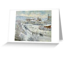 Claude Monet - View Of Argenteuil In The Snow Greeting Card