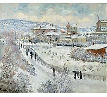 Claude Monet - View Of Argenteuil In The Snow Photographic Print