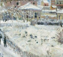 Claude Monet - View Of Argenteuil In The Snow Sticker