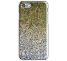 Cambodia - Siem Reap - Angkor - battle on the wall iPhone Case/Skin