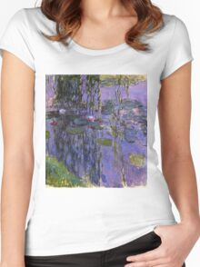 Claude Monet - Water Lilies 1919 3 Women's Fitted Scoop T-Shirt