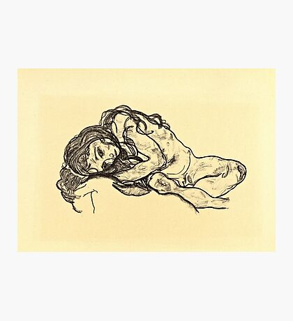 Egon Schiele - Madchen Girl  Photographic Print