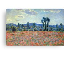 Claude Monet - Poppy Field In Giverny 03 Canvas Print
