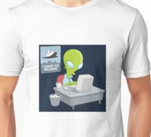 I Want to Believe, X Files Unisex T-Shirt