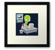 I Want to Believe, X Files Framed Print