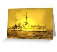A digital painting of  Germany's First Battle Cruiser, the von der Tann WW1 Greeting Card