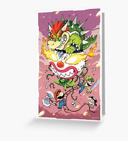 Mario Attack Greeting Card