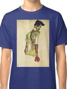 Egon Schiele - Male Nude In Profile Facing Right  Classic T-Shirt