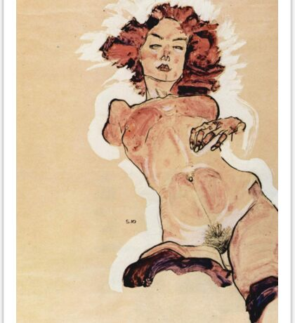 Egon Schiele - Female Nude 1910 Sticker