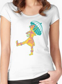 Umbrella Girl Women's Fitted Scoop T-Shirt
