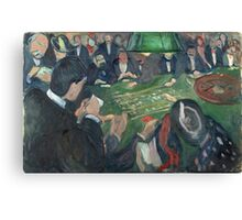 Edvard Munch - At The Roulette Table In Monte Carlo Canvas Print