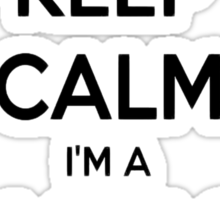 Keep Calm I Am A Massage Therapist Sticker