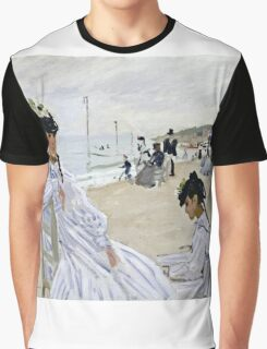 Claude Monet - On The Beach At Trouville  Graphic T-Shirt