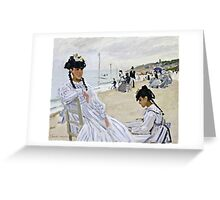 Claude Monet - On The Beach At Trouville  Greeting Card