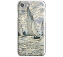 Claude Monet - The Regatta At Argenteuil 1874  iPhone Case/Skin