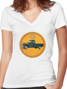 Willys one ton trucks Women's Fitted V-Neck T-Shirt