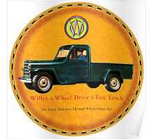 Willys one ton trucks Poster