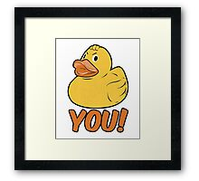 Duck You Funny Slogan Framed Print