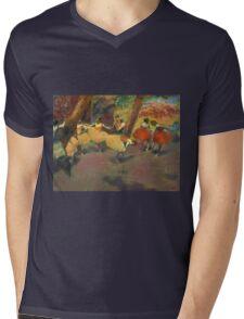 Edgar Degas - Before The Performance Mens V-Neck T-Shirt
