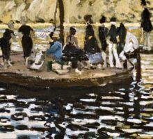 Claude Monet - La Grenouillere  Sticker