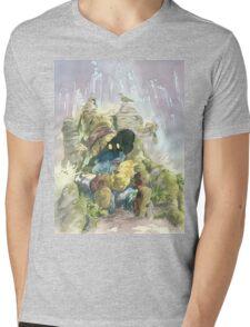 Vivi & Chocobo Mens V-Neck T-Shirt