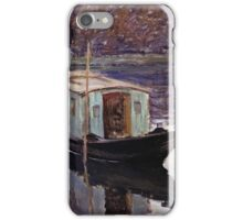 Claude Monet - Monets Studio Boat  iPhone Case/Skin