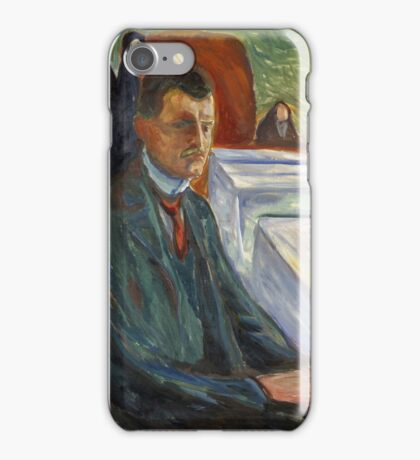 Edvard Munch - Self-Portrait With A Bottle Of Wine iPhone Case/Skin