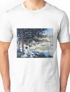 Claude Monet - On The Seine At Bennecourt 1868  Unisex T-Shirt