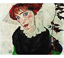 Egon Schiele - Portrait of Wally Neuzil (1912) 1  Photographic Print