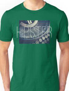 Vintage Typewriter Retro Hipster Design  Unisex T-Shirt
