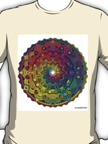 "Mandala 59 ""Time Dilation"" Rainbow Multicoloured T-Shirt"